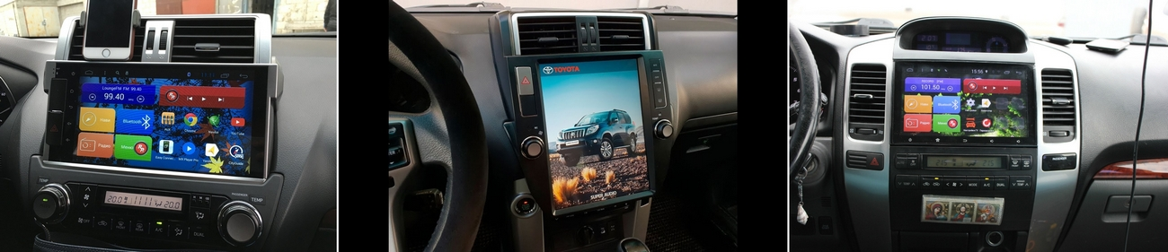 магнитол на ОС Android для Toyota Land Cruiser Prado 150 и 120